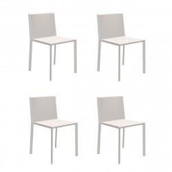 Lot de 4 chaises Quartz, Vondom ecru