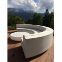 Table basse design ronde Vela, Vondom taupe