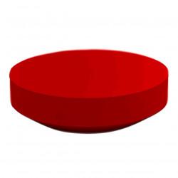 Table basse design ronde Vela diamètre 120cm, Vondom rouge