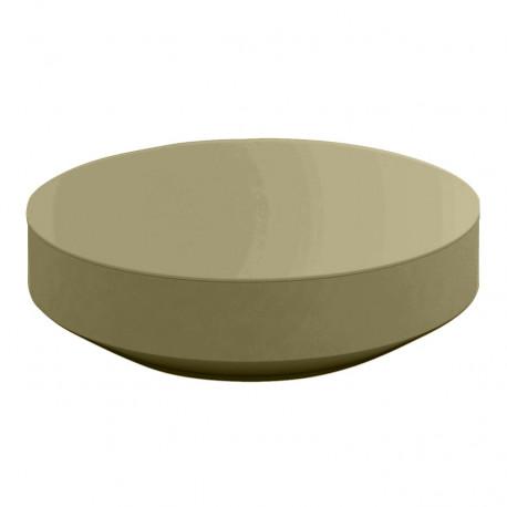 Table basse design ronde Vela, Vondom kaki