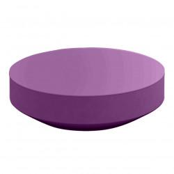 Table basse design ronde Vela diamètre 120cm, Vondom prune