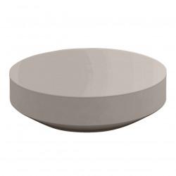 Table basse design ronde Vela diamètre 120cm, Vondom taupe
