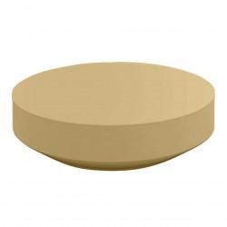 Table basse design ronde Vela diamètre 120cm, Vondom beige