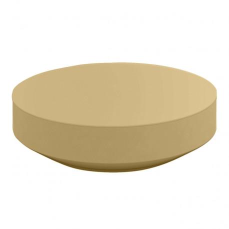 Table basse design ronde Vela, Vondom beige