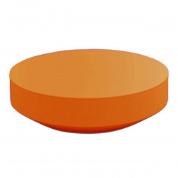 Table basse design ronde Vela diamètre 120cm, Vondom orange