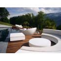 Table basse design carrée Vela Chill 80, Vondom pistache