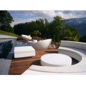 Table basse design carrée Vela Chill 80, Vondom prune