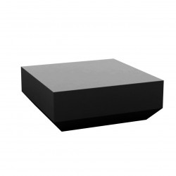 Table basse design carrée Vela Chill 80, Vondom noir