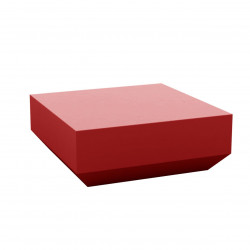 Table basse design carrée Vela Chill 80, Vondom rouge