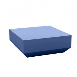 Table basse design carrée Vela Chill 80, Vondom navy