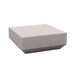 Table basse design carrée Vela Chill 80, Vondom taupe