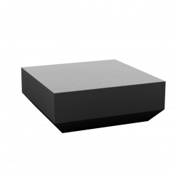 Table basse design carrée Vela Chill 80, Vondom anthracite