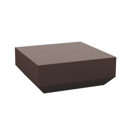 Table basse design carrée Vela Chill 80, Vondom bronze