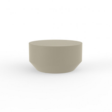 Table basse ronde Vela, Vondom ecru, diamètre 60xH30cm