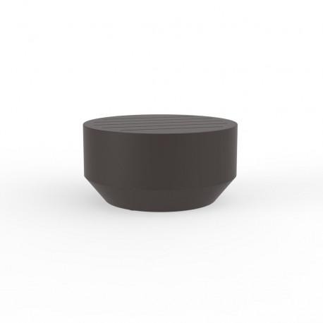 Table basse ronde Vela, Vondom bronze, diamètre 60xH30cm