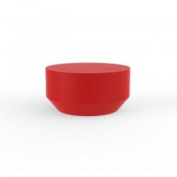 Table basse ronde Vela diamètre 60xH30cm, Vondom rouge