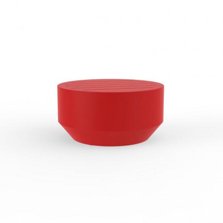 Table basse ronde Vela, Vondom rouge, diamètre 60xH30cm