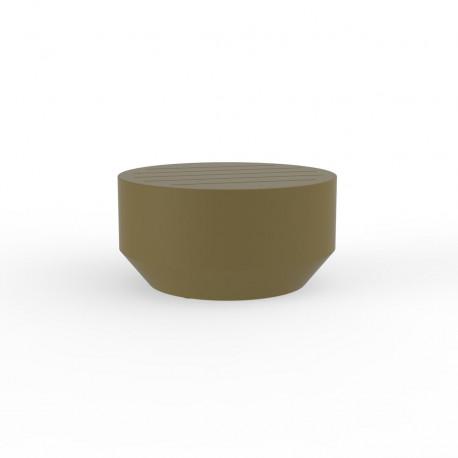 Table basse ronde Vela, Vondom kaki, diamètre 60xH30cm