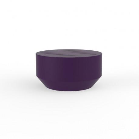 Table basse ronde Vela, Vondom prune, diamètre 60xH30cm