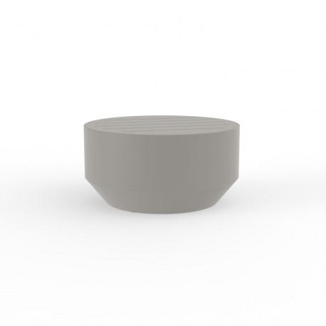 Table basse ronde Vela, Vondom taupe, diamètre 60xH30cm