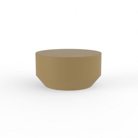 Table basse ronde Vela, Vondom beige, diamètre 60xH30cm