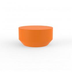 Table basse ronde Vela diamètre 60xH30cm, Vondom orange