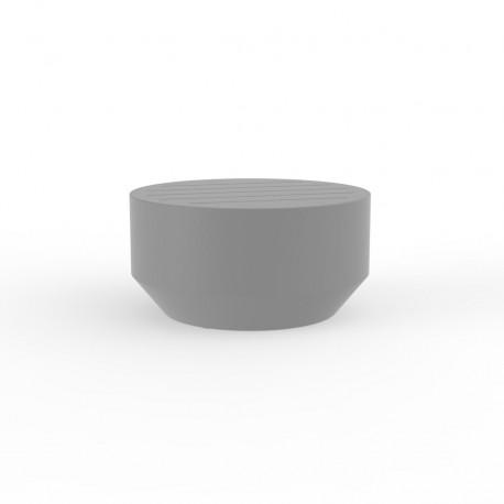 Table basse ronde Vela, Vondom acier, diamètre 60xH30cm