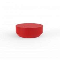 Table basse ronde Vela, diamètre 80xH30cm, Vondom rouge