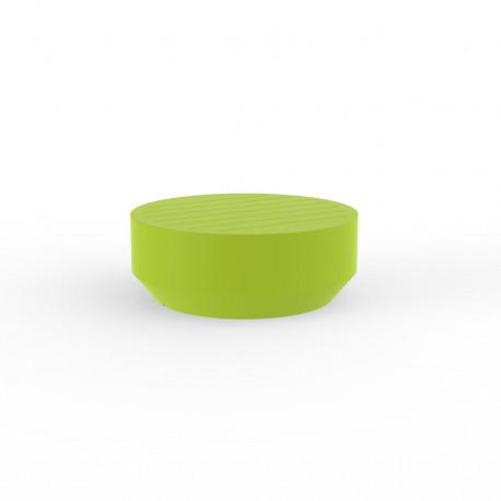 Table basse ronde Vela, Vondom pistache, diamètre 80xH30cm