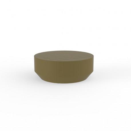 Table basse ronde Vela, Vondom kaki, diamètre 80xH30cm