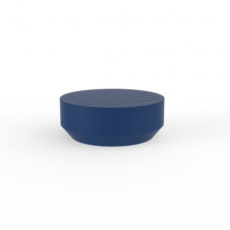 Table basse ronde Vela, Vondom navy, diamètre 80xH30cm