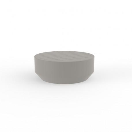 Table basse ronde Vela, Vondom taupe, diamètre 80xH30cm