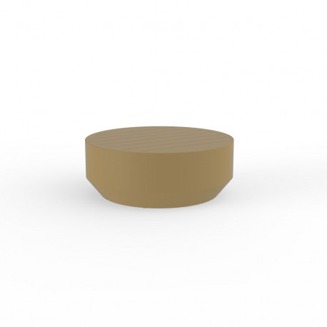 Table basse ronde Vela, Vondom beige, diamètre 80xH30cm