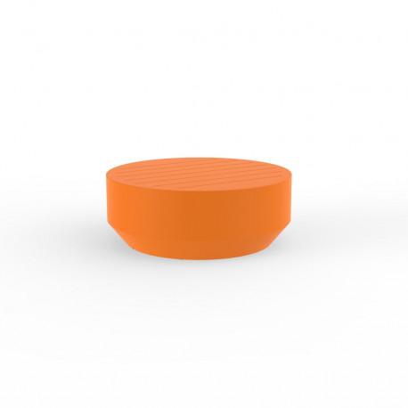 Table basse ronde Vela, Vondom orange, diamètre 80xH30cm