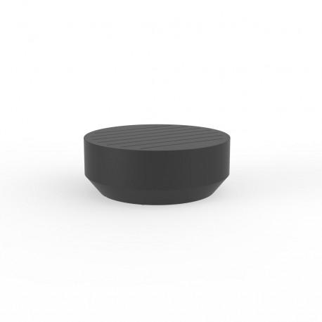 Table basse ronde Vela, Vondom anthracite, diamètre 80xH30cm