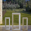 Table haute Frame, Vondom blanc