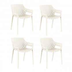 Lot de 4 fauteuils Spritz, Vondom moutarde