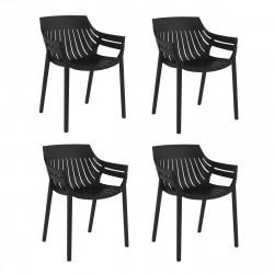 Lot de 4 fauteuils Spritz, Vondom noir