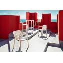 Set Spritz table et 2 tabourets, hauteur d'assise 76cm, Vondom moutarde