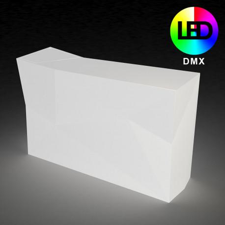 Bar central avec seau à glace Faz, Vondom, Lumineux LED RGBW DMX, alimentation par câble