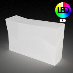 Bar central avec seau à glace Faz, Vondom blanc LED RGB à batterie