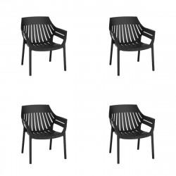 Lot de 4 fauteuils lounge Spritz, Vondom noir