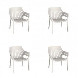 Lot de 4 fauteuils lounge Spritz, Vondom ecru