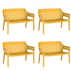 Lot de 4 sofas Spritz, Vondom moutarde