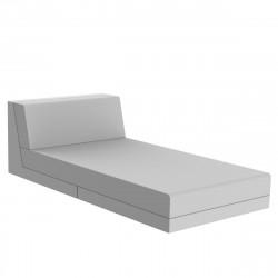 Salon de jardin lounge Pixel, module divan, Vondom, tissu Silvertex blanc