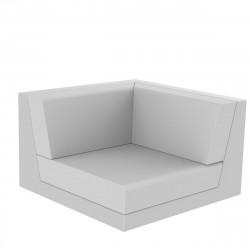 Canapé composable outdoor Pixel, module d'angle, Vondom, tissu Silvertex blanc