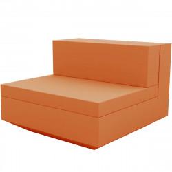 Module central canapé Vela, Vondom, 100x100xH72cm orange