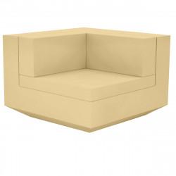Module d'angle canapé Vela, Vondom, 100x100xH72cm beige