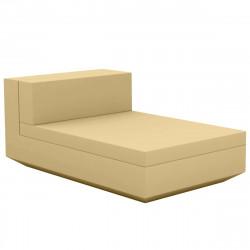 Module central chaise longue canapé Vela, Vondom, 100x160xH72cm beige