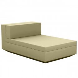 Module central chaise longue canapé Vela, Vondom, 100x160xH72cm kaki
